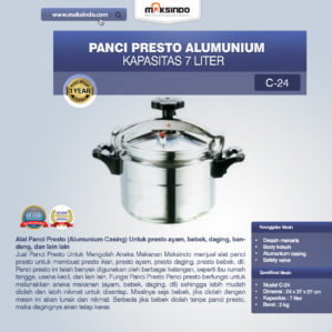 Jual Panci Presto Alumunium 7 -135 Liter di Bekasi