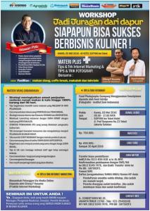 Workshop Jadi Juragan Dapur (Bisnis Kuliner) 5 Mei 2016 mesinbekasi
