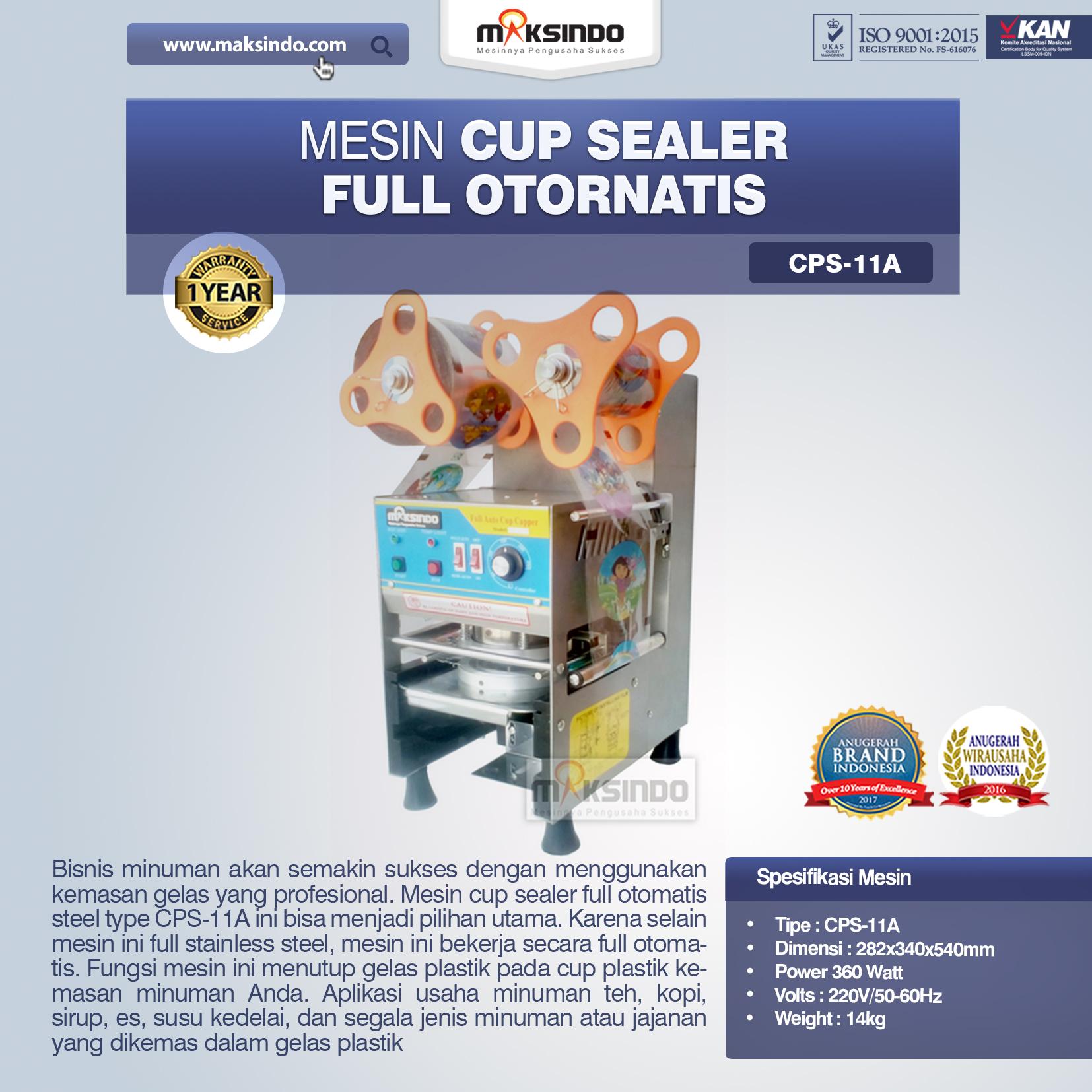 Jual Mesin Cup Sealer Full Otomatis (CPS-11A) di Bekasi