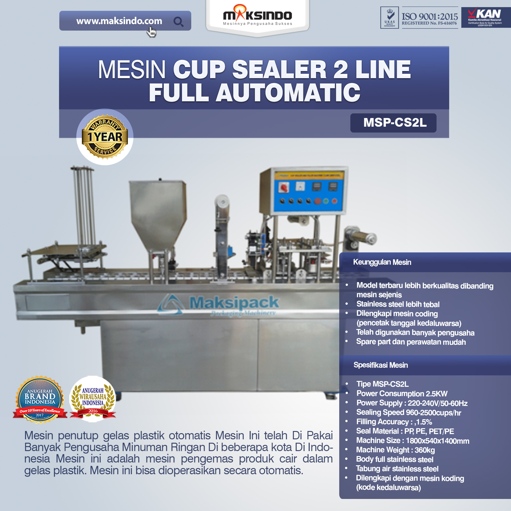 Jual Mesin Cup Sealer Otomatis 2 line dan 4 line di Bekasi