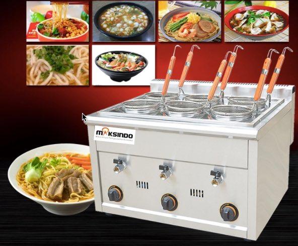Jual Mesin Pemasak Mie 6 Lubang (Gas, MKS-PC6) di Bekasi