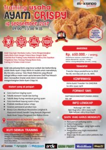 Training Usaha Ayam Crispy, 16 September 2017