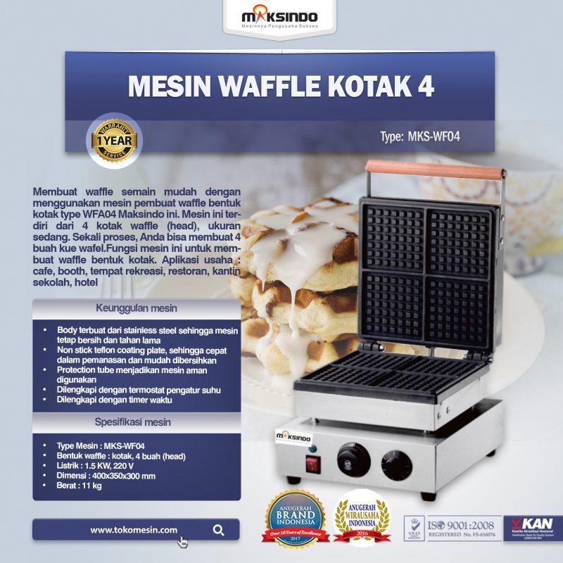 Jual Mesin Waffle Kotak 4 (WF04) di Bekasi