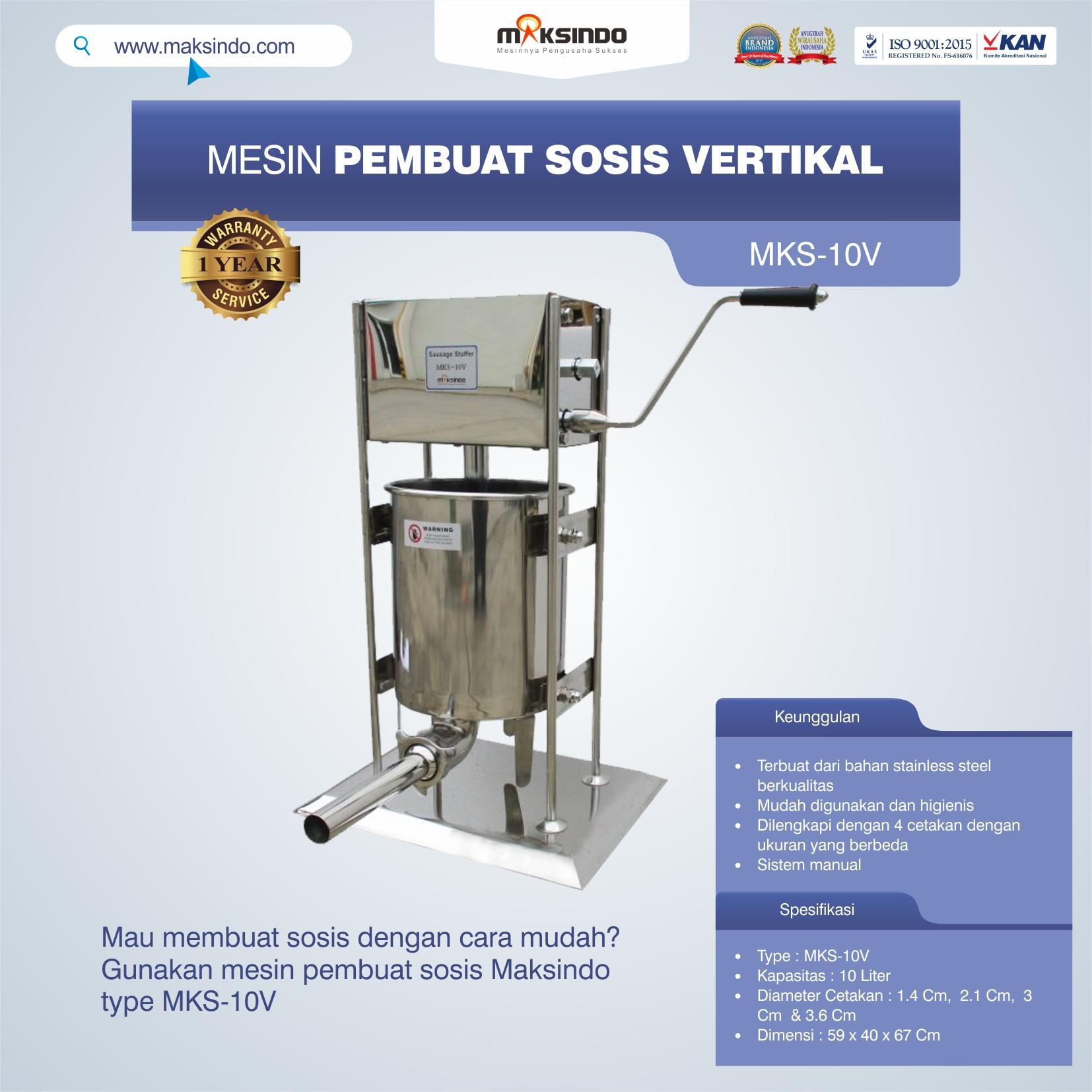 Jual Mesin Pembuat Sosis Vertikal MKS-10V di Bekasi