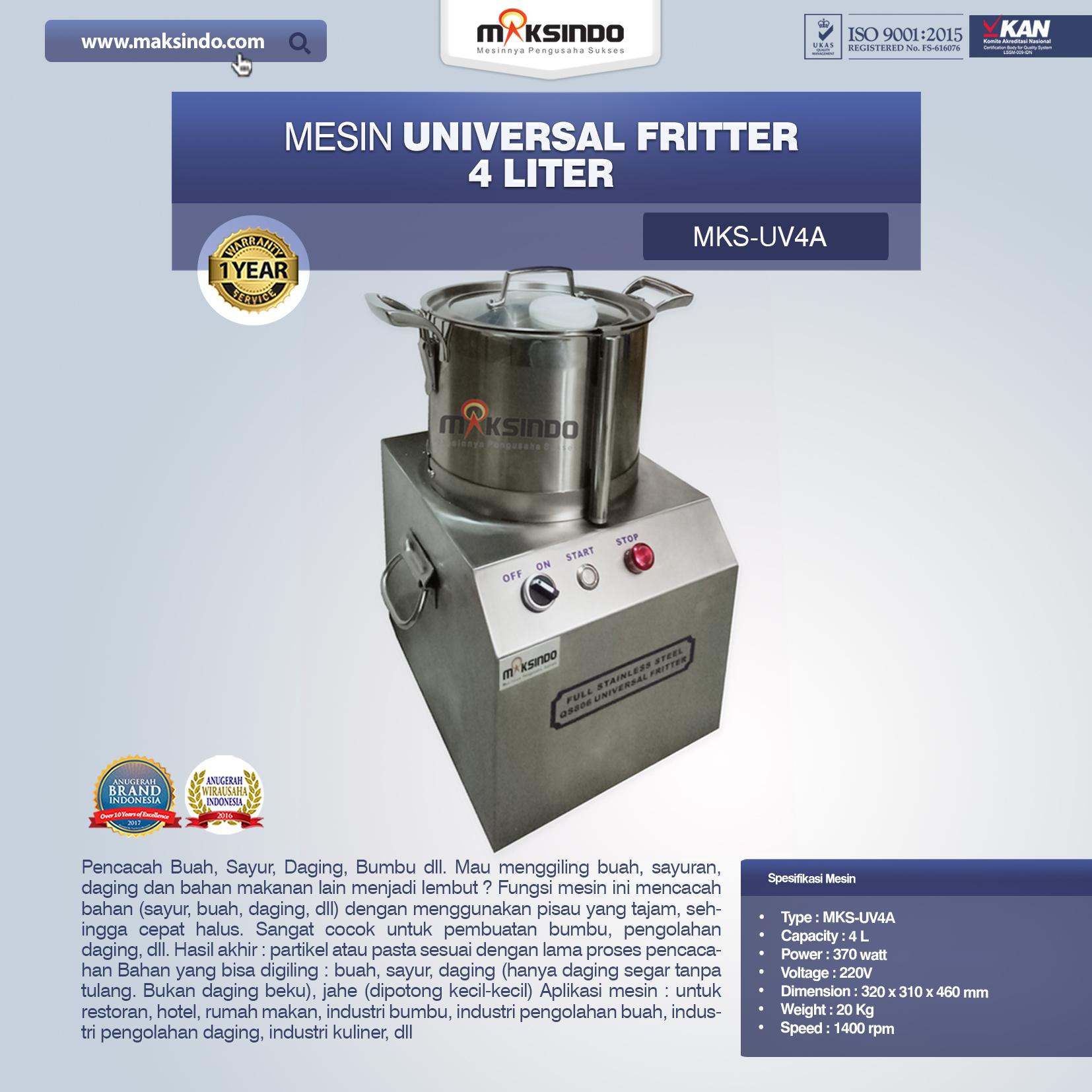 Jual Universal Fritter 4 Liter (MKS-UV4A) di Bekasi