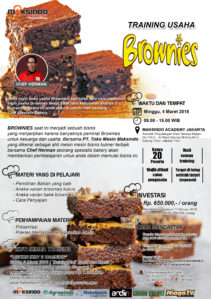 Training Usaha Brownies, 4 Maret 2018