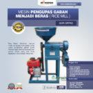 Jual Mesin Pengupas Gabah Menjadi Beras (Rice Mill) AGR-GRP80 di Bekasi