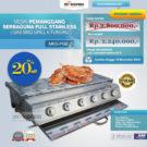 Jual Pemanggang Serbaguna – Gas BBQ Grill 6 Tungku di Bekasi