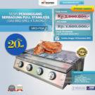 Jual Pemanggang Serbaguna – Gas BBQ Grill 4 Tungku di Bekasi