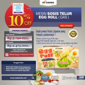 Jual Mesin Pembuat Egg Roll (Gas) di Bekasi