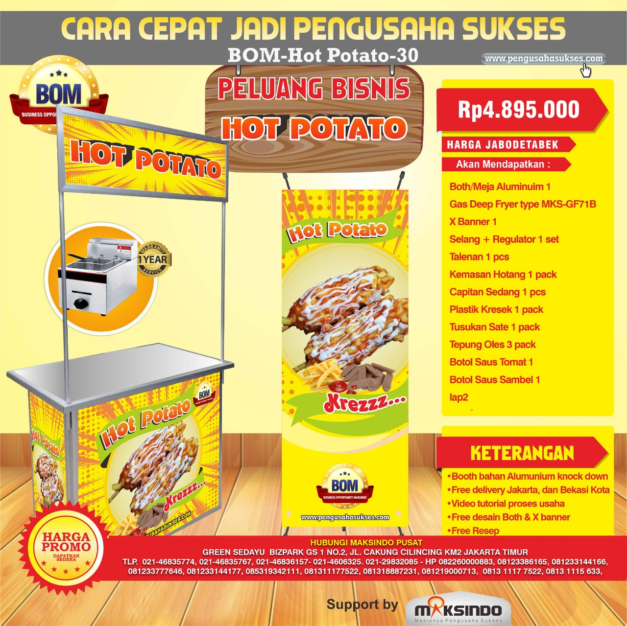 Paket Usaha Hot Potato Program BOM