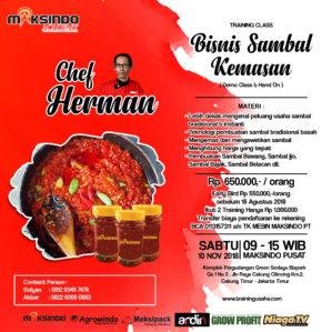 Training Usaha Sambal Aneka Nusantara, Sabtu, 10 November 2018