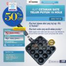 Jual Alat Cetakan Sate Telur Puyuh 16 Hole Ardin TYK-16 di Bekasi