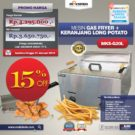 Jual Mesin Gas Fryer MKS-G20L + Keranjang Long Potato di Bekasi