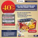 Jual Mesin Egg Roll Gas 2in1 Plus Fryer ERG007 Maksindo di Bekasi