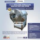 Jual Mesin Perajang Serbaguna Bentuk Chip dan Stick – MKS-VGT250 di Bekasi