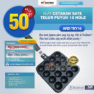 Jual Alat Cetakan Sate Telur Puyuh 16 Hole Ardin TKY16 di Bekasi