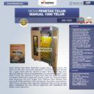 Jual Mesin Penetas Telur Manual 1000 Telur (EM-1000) di Bekasi