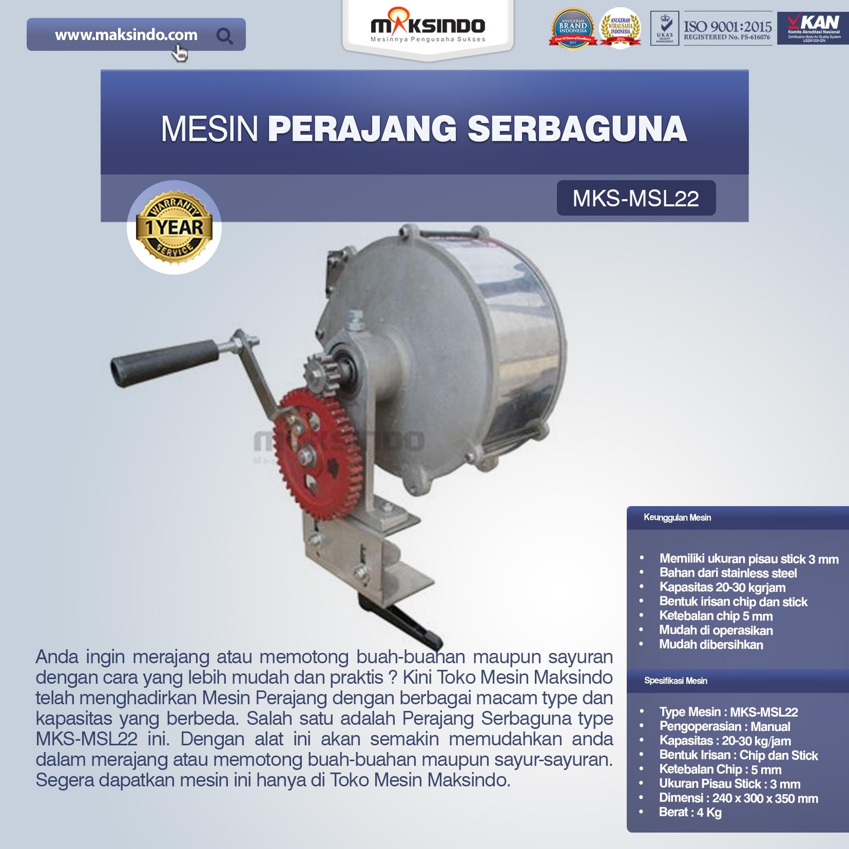 Jual Perajang Serbaguna MKS-MSL22 di Bekasi