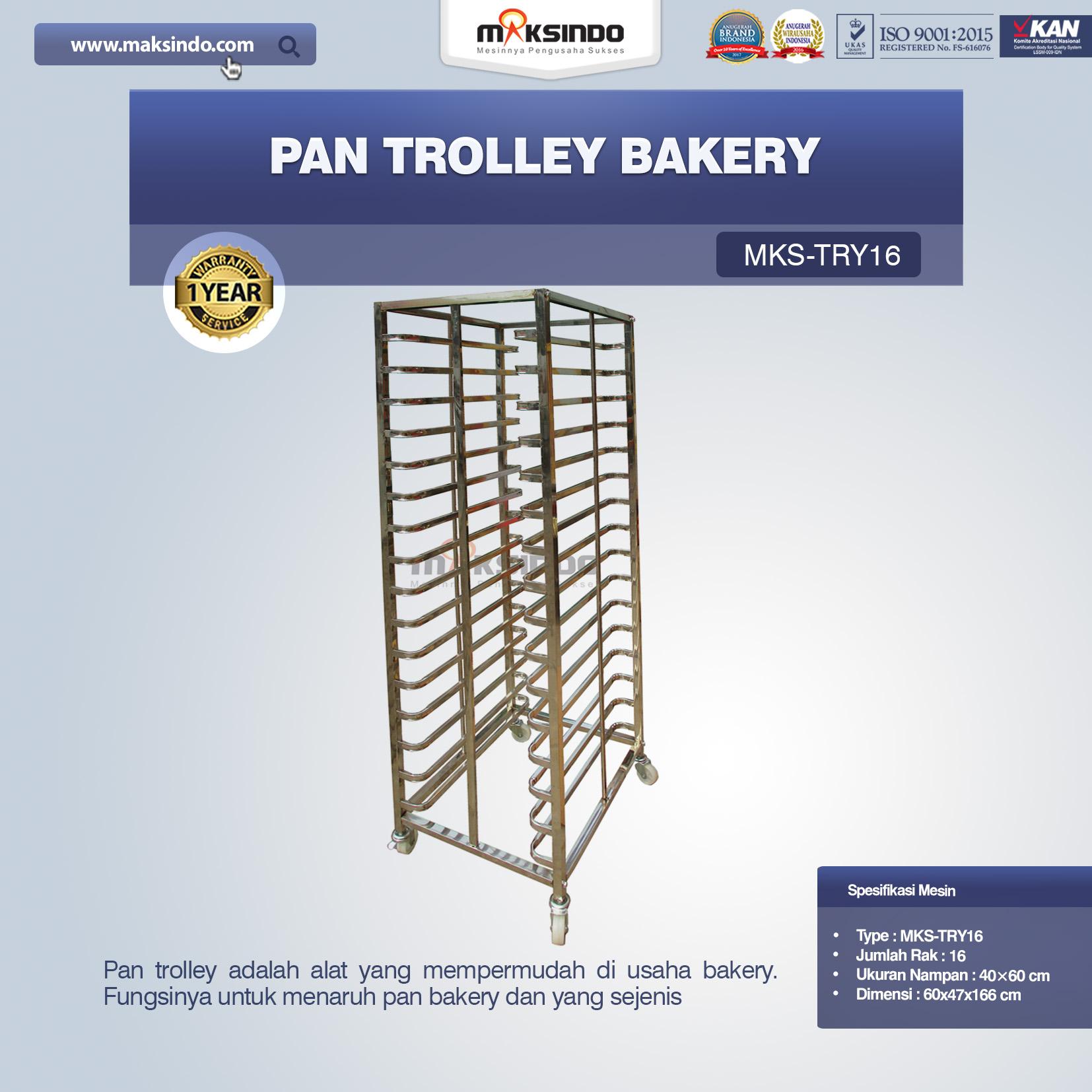 Jual Pan Trolley Bakery (MKS-TRY16) di Bekasi