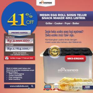 Jual Mesin Egg Roll Sosis Telur Snack Maker 4in1 Listrik di Bekasi