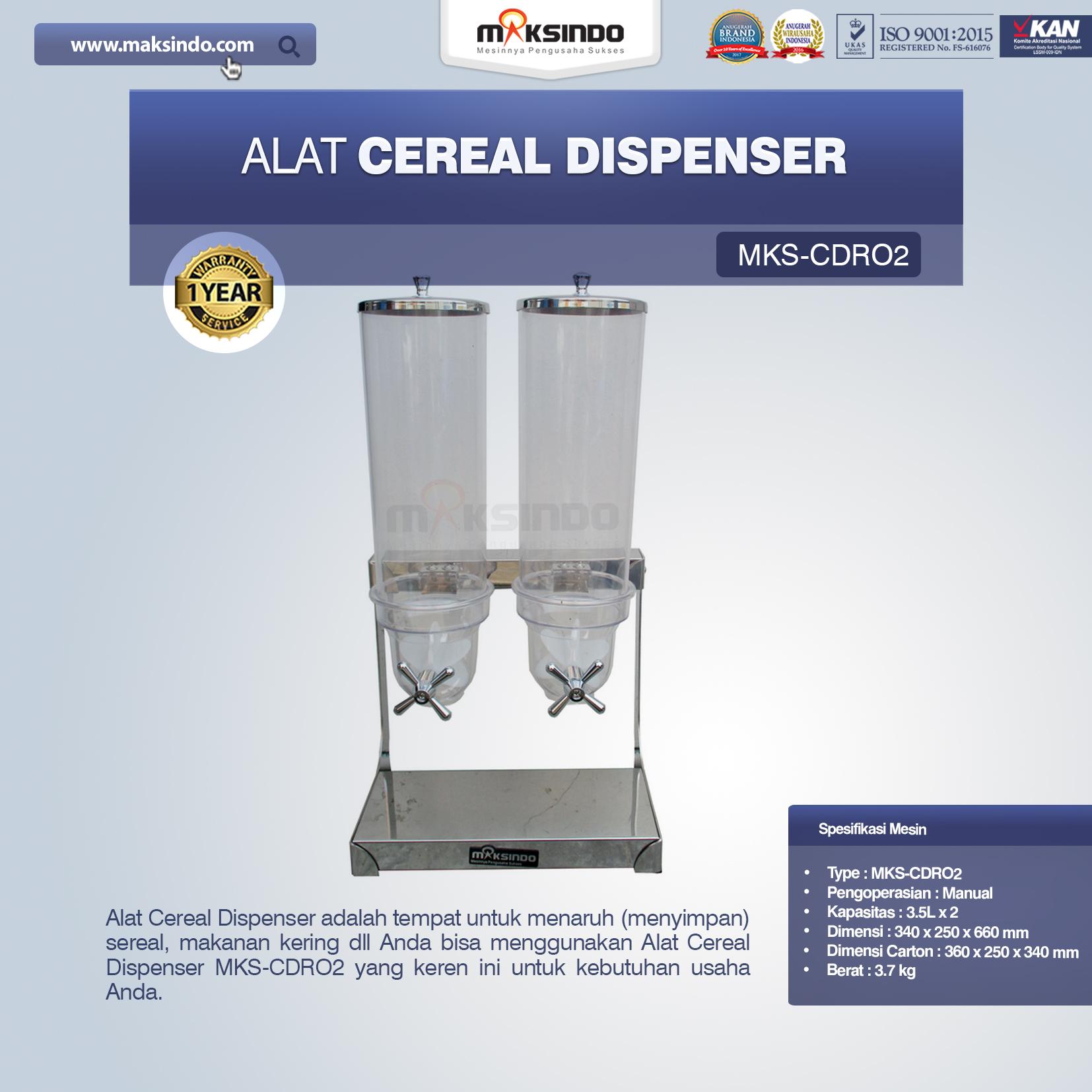 Jual Alat Cereal Dispenser MKS-CDR02 di Bekasi