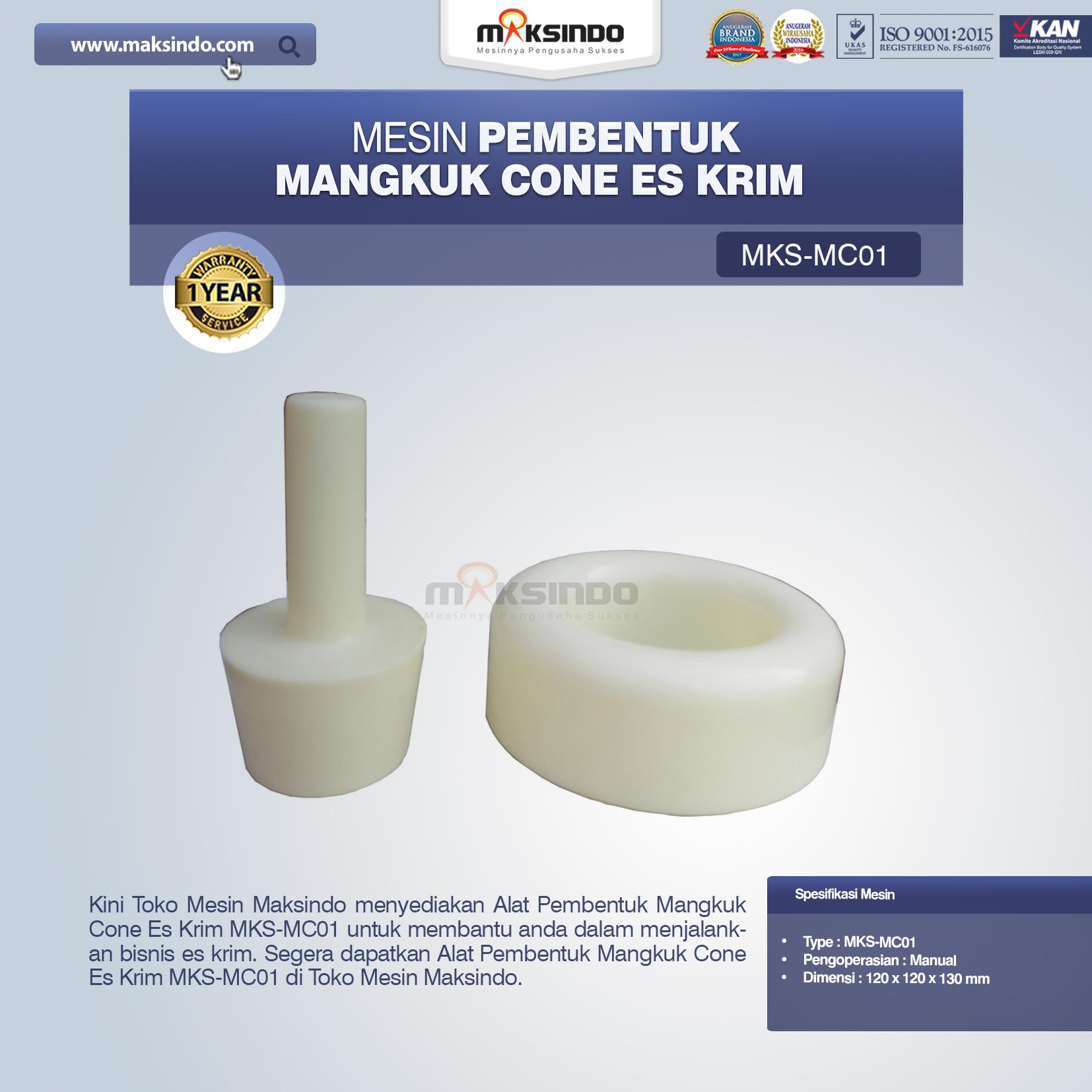 Jual Alat Pembentuk Mangkuk Cone Es Krim MKS-MC01 di Bekasi