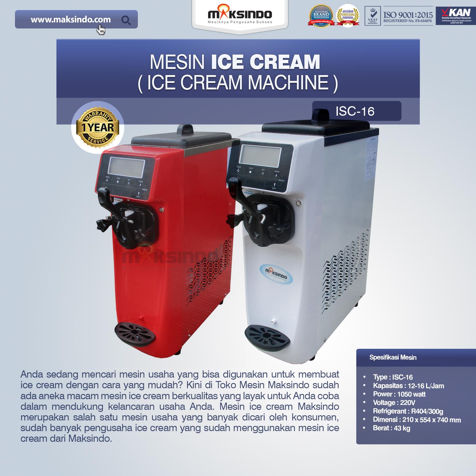 Jual Mesin Es Krim (Ice Cream Machine) ISC-16 Di Bekasi