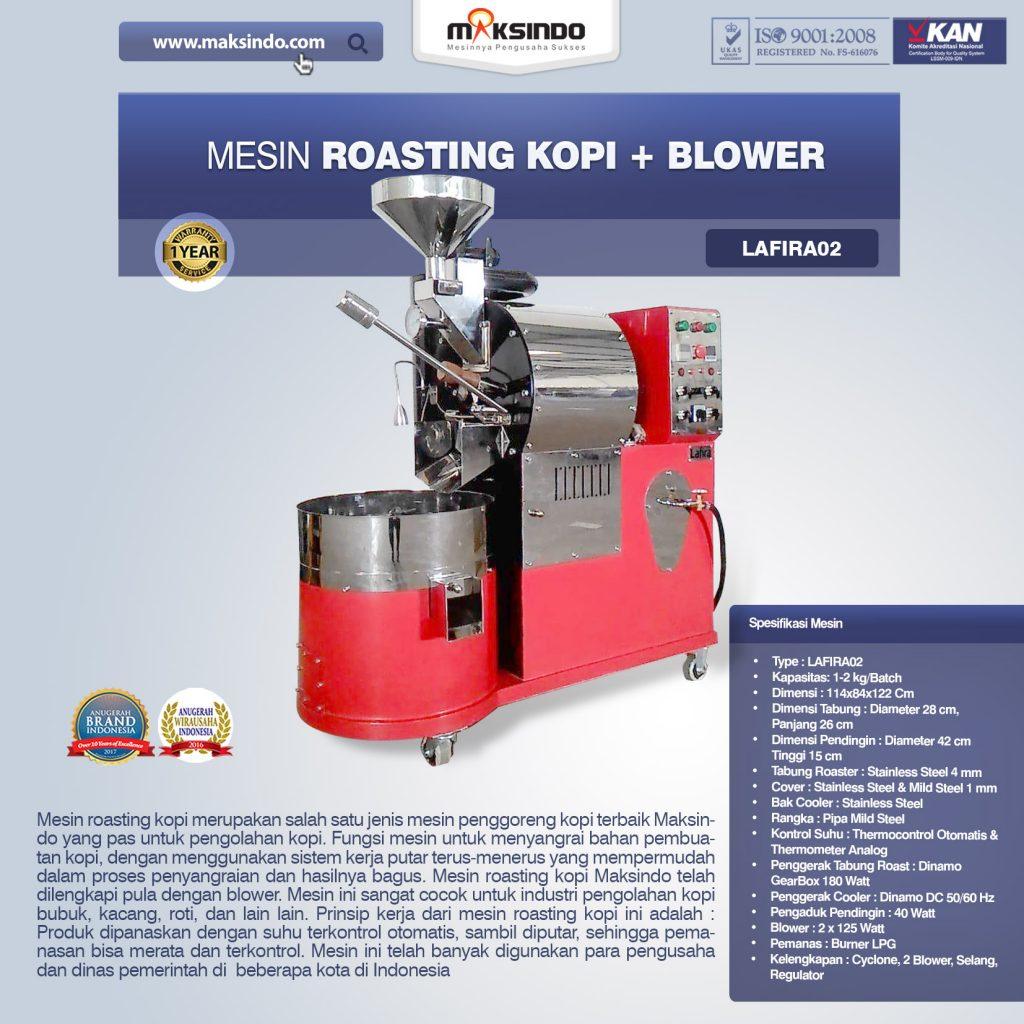 Jual Mesin Roasting Kopi + Blower Lafira 02 di Bekasi