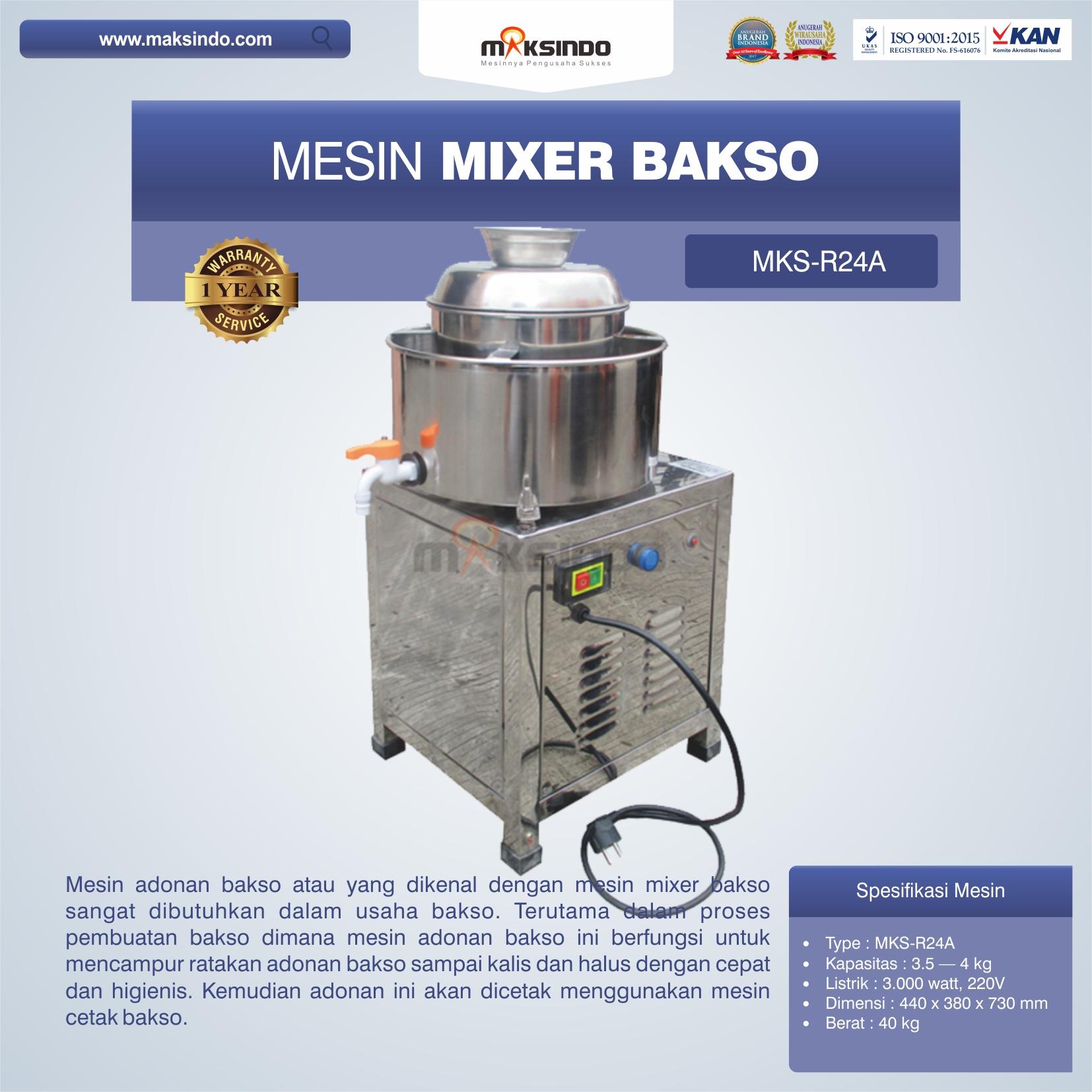 Jual Mesin Mixer Bakso MKS-R24A di Bekasi