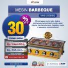 Jual Mesin Pemanggang Sate – BBQ 4 Tungku (Gas) di Bekasi