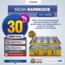 Jual Mesin Pemanggang Sate – BBQ 3 Tungku (Gas) MKS-369BBQ di Bekasi