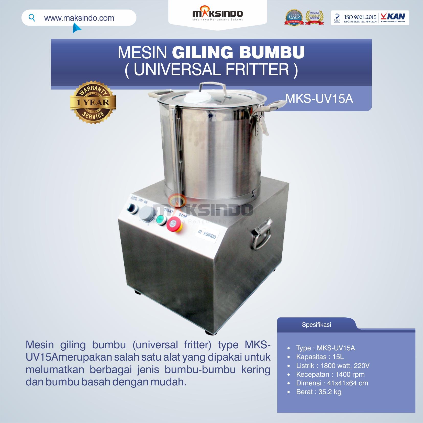 Jual Mesin Giling Bumbu (Universal Fritter) MKS-UV15A di Bekasi