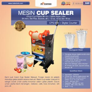 Jual Cup Sealer Manual plus Counter (CPS-919) di Bekasi
