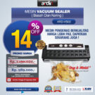 Jual Mesin Vacuum Sealer VS02 Ardin (basah dan kering) di Bekasi