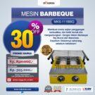 Jual Mesin Pemanggang Sate – BBQ 2 Tungku (Gas) di Bekasi