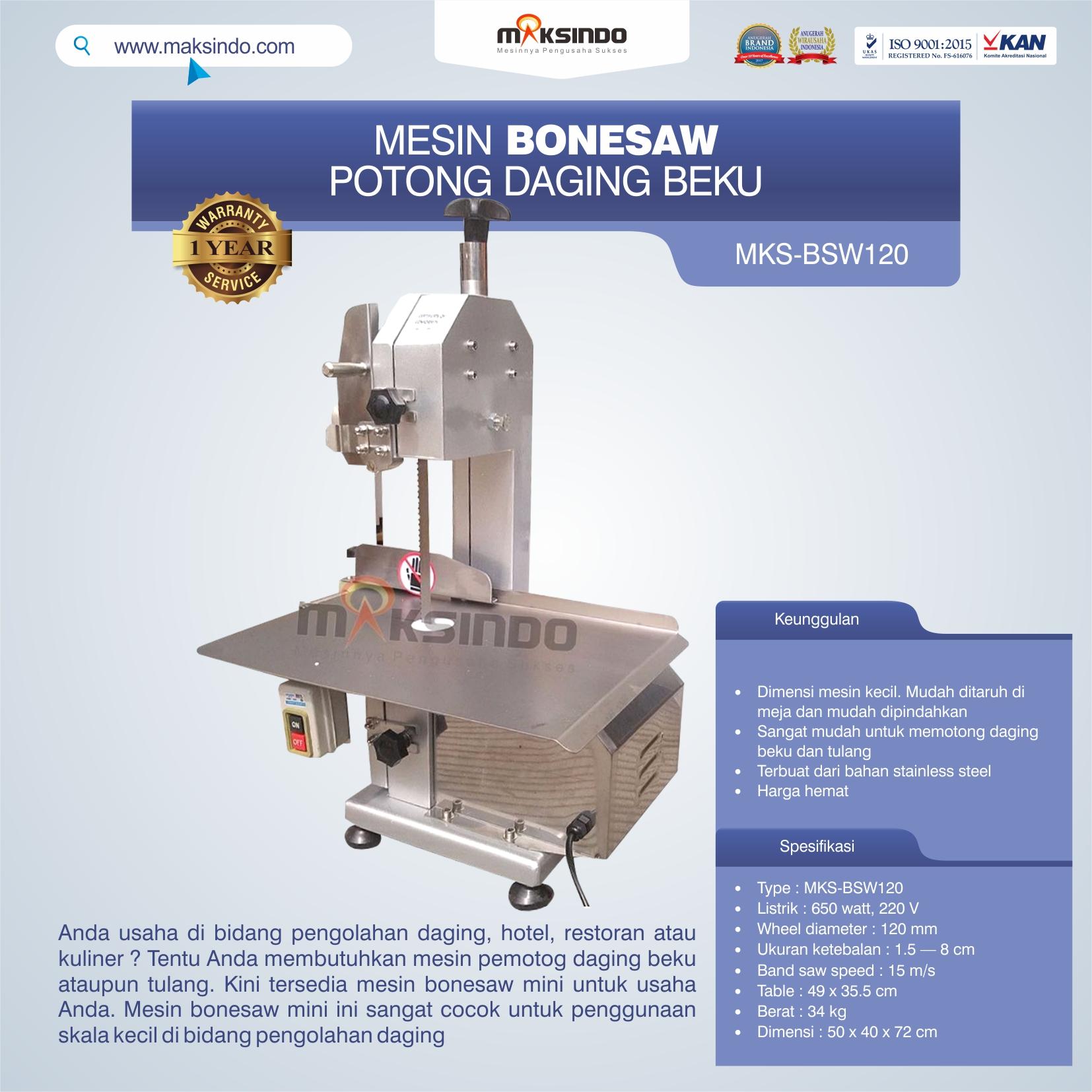 Jual Bonesaw Pemotong Daging Beku (MKS-BSW120) di Bekasi