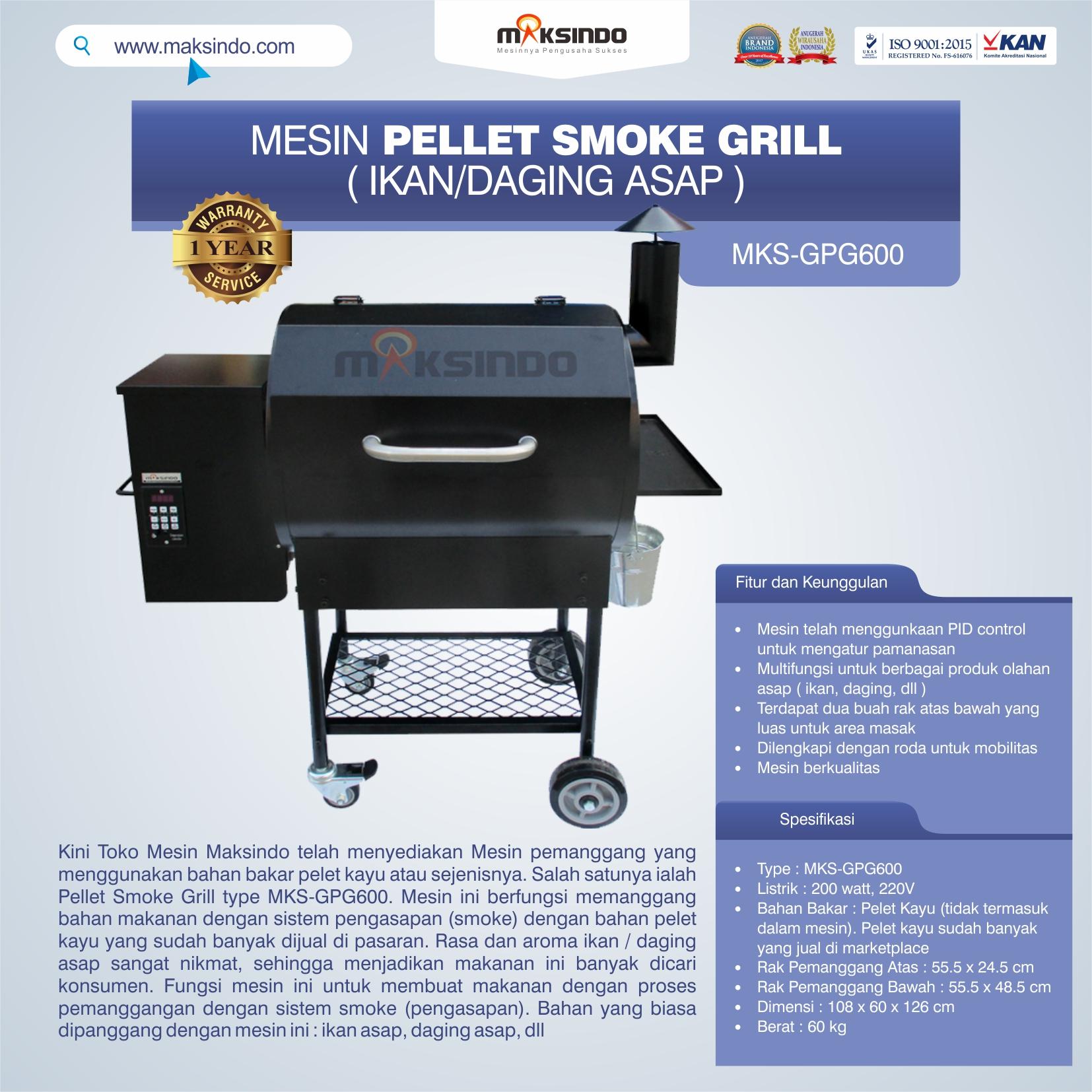 Jual Pellet Grill MKS-GPG600 di Bekasi