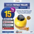 Jual Mesin Tetas Telur 10 Butir (AGR-TT-10) di Bekasi