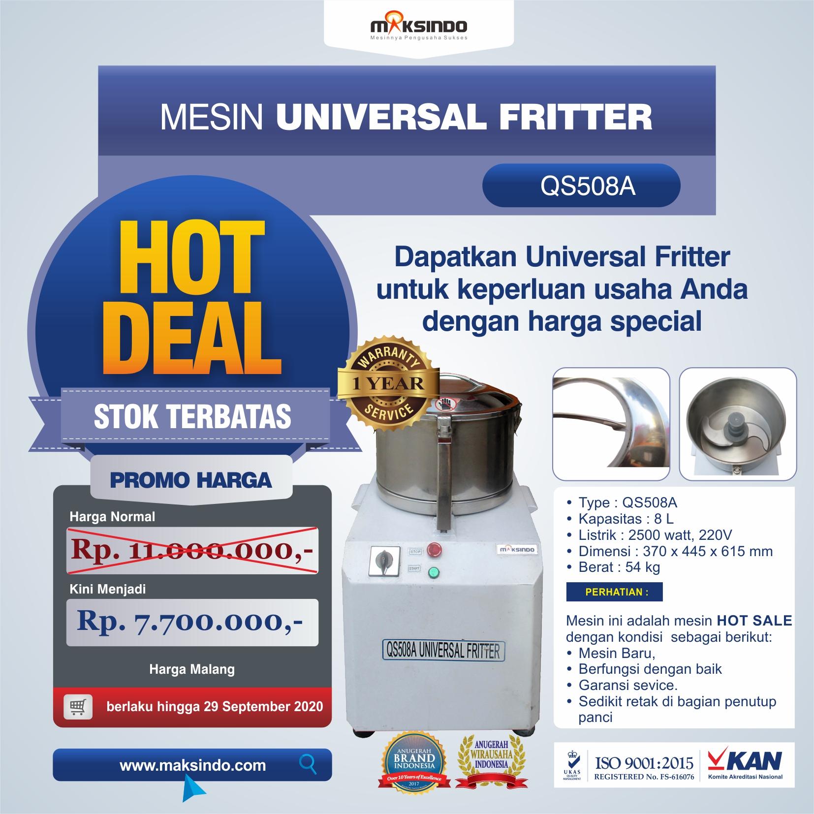 Jual Mesin Universal Fritter QS508A di Bekasi