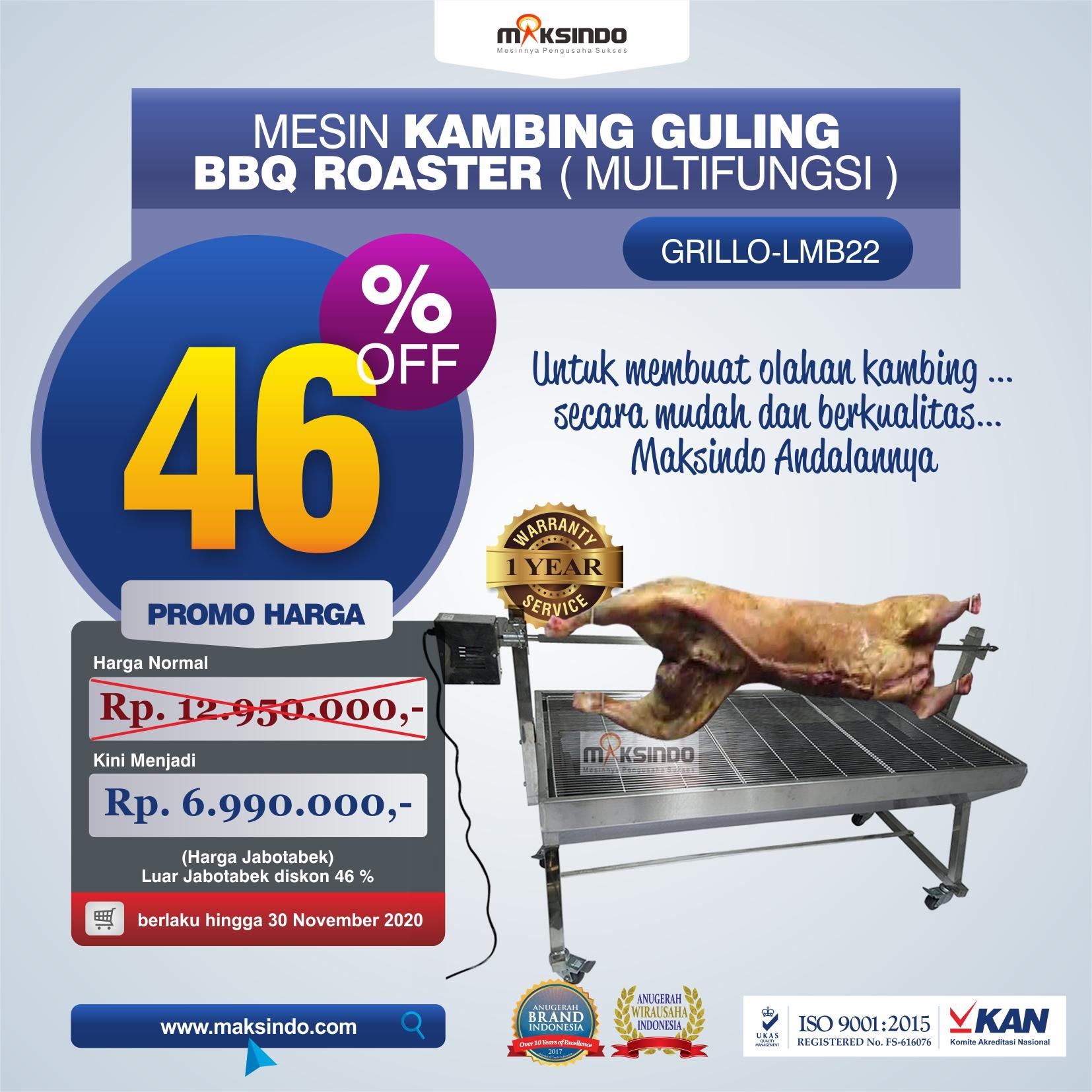 Jual Mesin Kambing Guling BBQ Roaster (GRILLO-LMB22) di Bekasi