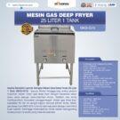 Jual Gas Deep Fryer 25 Liter 1 Tank (G75) di Bekasi
