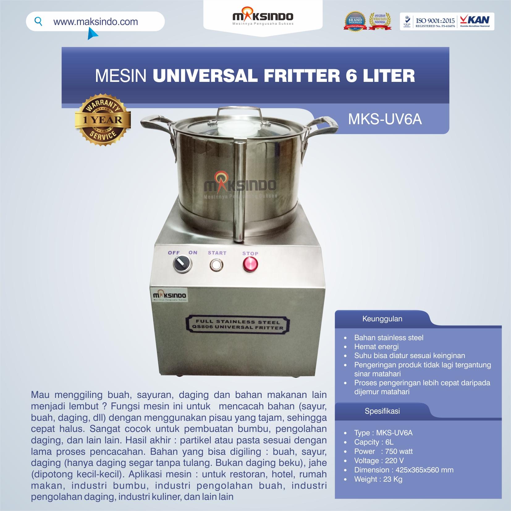 Jual Universal Fritter 6 Liter (MKS-UV6A) di Bekasi