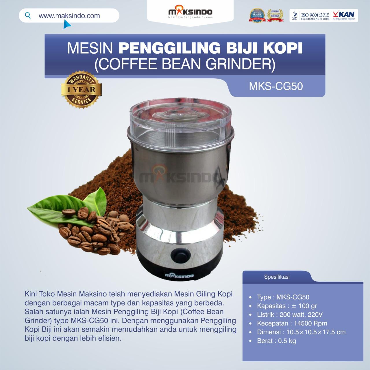 Jual Penggiling Biji Kopi (Coffee Bean Grinder) MKS-CG50 di Bekasi