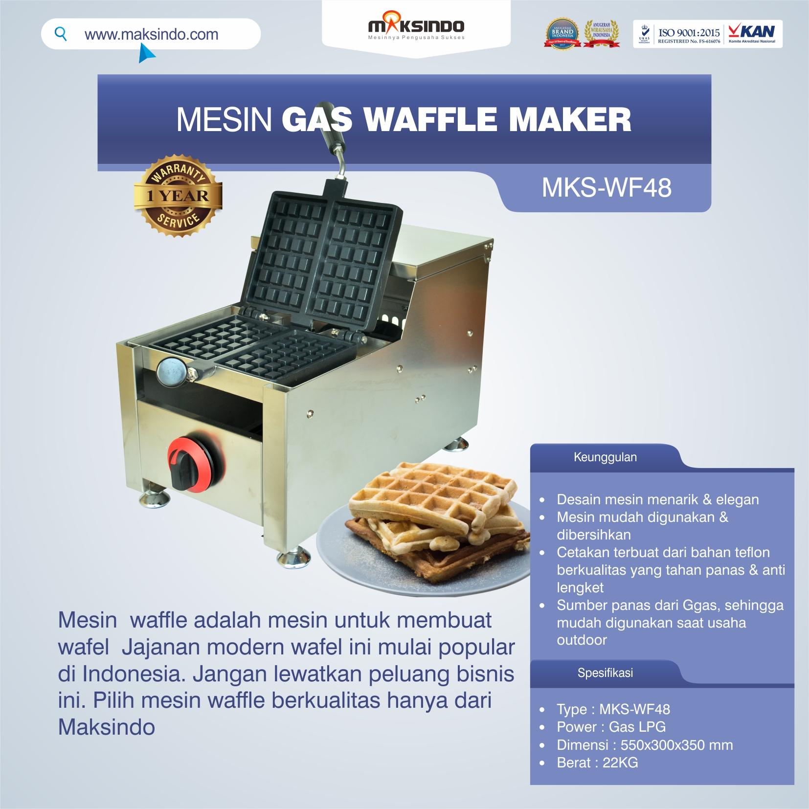 Jual Mesin Gas Waffle Maker MKS-WF48 di Bekasi