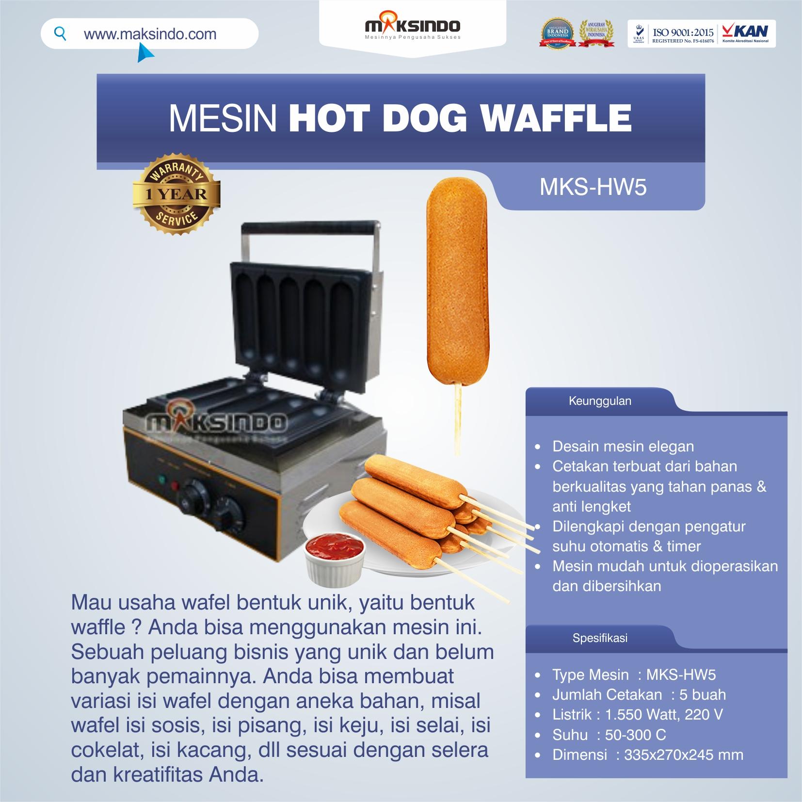 Jual Mesin Hot Dog Waffle MKS-HW5 di Bekasi