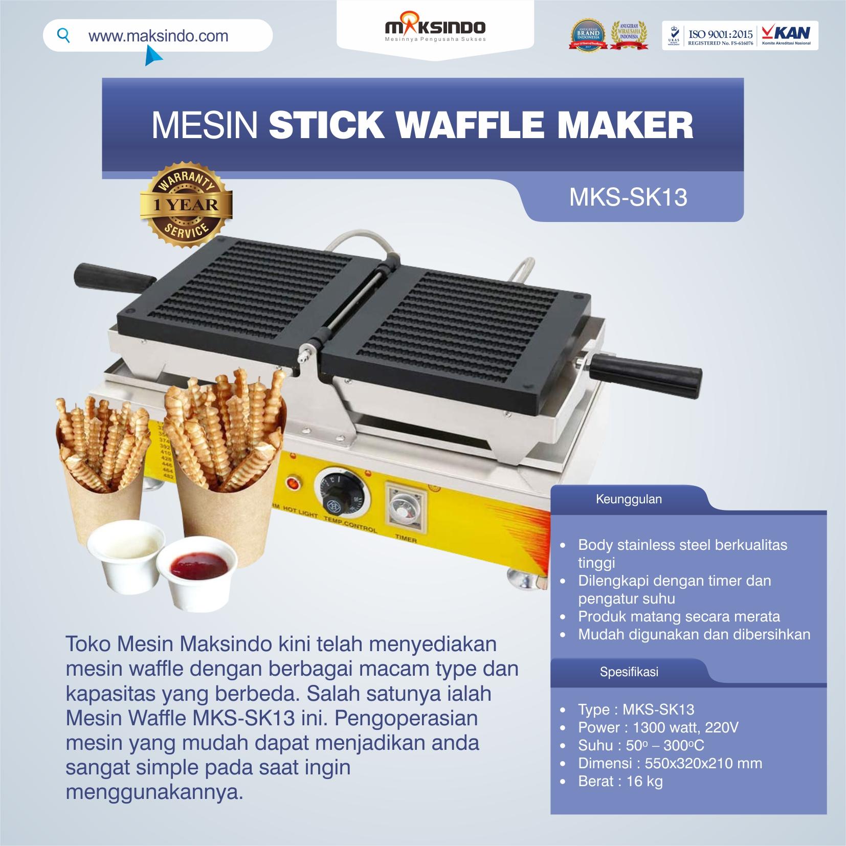 Jual Mesin Stick Waffle Maker MKS-SK13 di Bekiasi