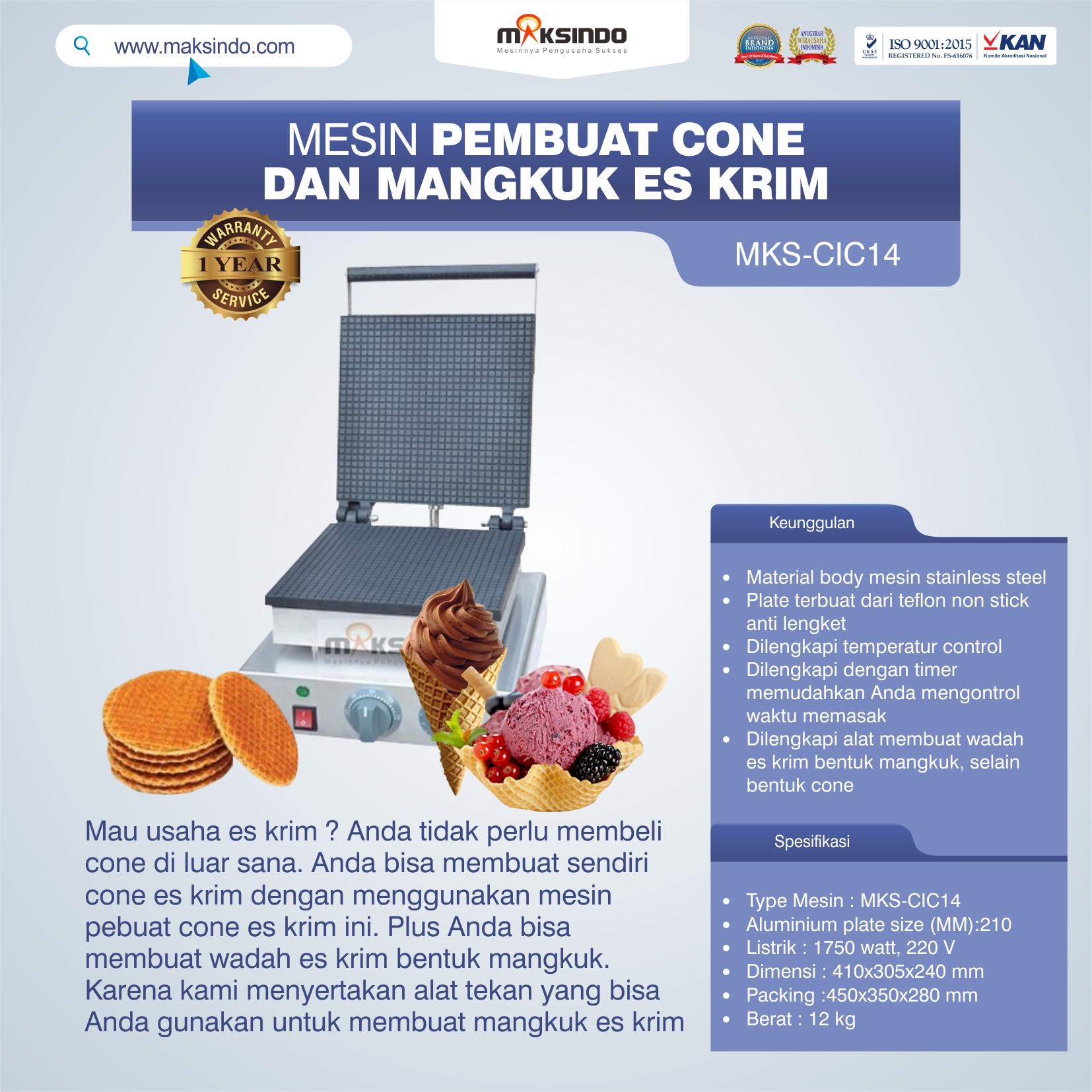 Jual Pembuat Cone dan Mangkuk Es Krim (CIC14) di Bekasi