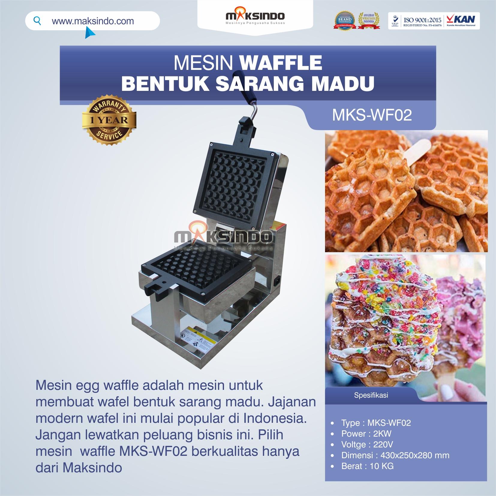 Jual Mesin Waffle Bentuk Sarang Madu MKS-WF02 di Bekasi