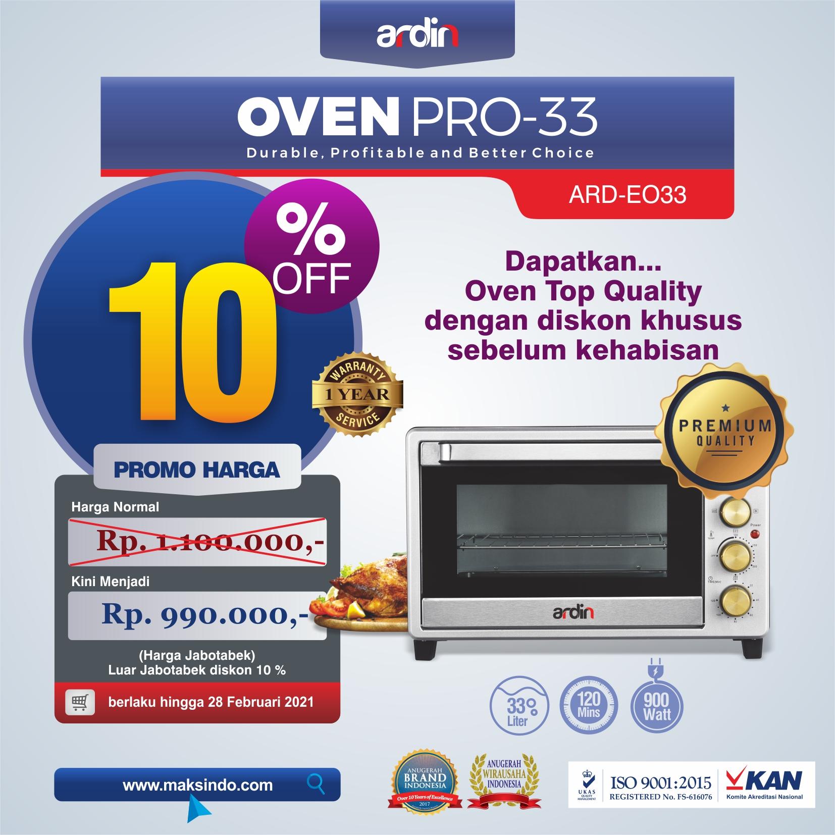 Jual Oven Listrik (Oven Pro-33) di Bekasi